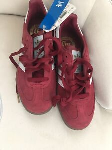 authentic hot product good service Details about Mens Adidas Samba Red Suede Lace Up Low Top Sneakers US size  4.5