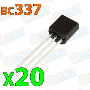 20x-BC337-Transistor-NPN-BJT-45V-500mA-625mW-100MHz-400hFE-TO-92