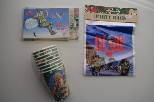 1998 G.I JOE Birthday Party Cups Invitations and Party Bags