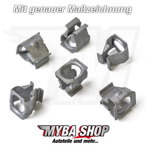 20x Metall Unterboden Schutz Klammer Clips für VW Skoda Seat Audi N90847501