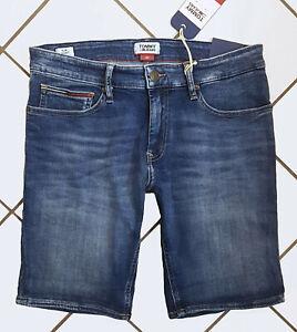 preiswert kaufen Outlet zu verkaufen starke verpackung Details zu TOMMY JEANS HERREN SCANTON Jeans Shorts Slim Fit kurze Hose mit  Stretch DM06271