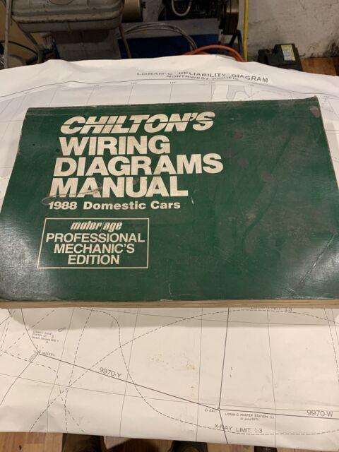 Chilton U0026 39 S Wiring Diagrams Manual 1988 Domestic Cars Book