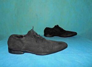 chaussures derby MANFIELD en cuir noir p 8 uk ou 42 fr tres bon etat