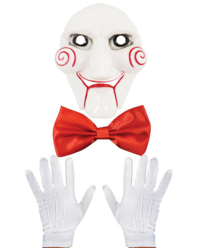 Halloween Pupazzo BILLY Costume Accessorio Set Maschera PAPILLON Guanti Movie Film
