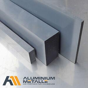 PVC-Platte-Zuschnitt-Staerke-8mm-grau-RAL-7011-PVC-U-Kunststoff-Plastik-flach