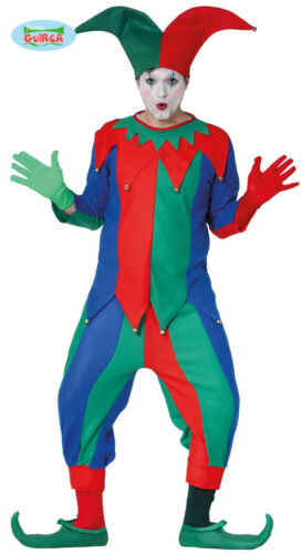 Narr Kostüm für Herren Karneval Fasching Hoffnarr Mittelalter Spaßmacher Clown