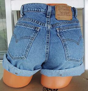levi strauss denim jean vintage high waisted shorts size 9. Black Bedroom Furniture Sets. Home Design Ideas