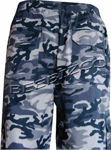 Mens Elasticated Camouflage Fleece Lined Thermal Trousers Fishing Hunting M-XXL
