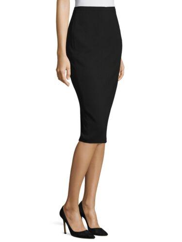 Max Mara Stretch Wool Pencil Skirt black Italy sz