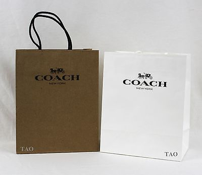 Coach Shopping Gift Paper Bag New Set of 4 Small 10x8x4.5 inches