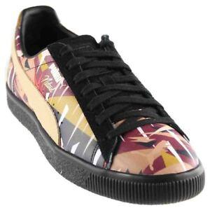 Puma-Naturel-x-Clyde-Moon-Jungle-Casual-Sneakers-Black-Mens