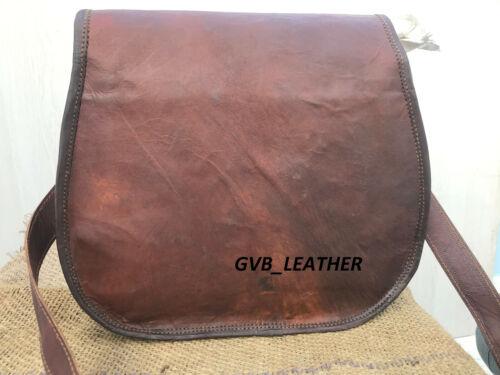 New Genuine leather Flap Over saddle bag women Hippe satchel shoulder bag purse
