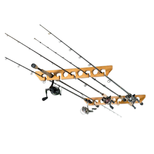 Horizontal Ceiling Mount Rods Rack Fishing Rod Pole Reel
