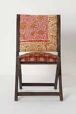 New Terai Folding Chair ANTHROPOLOGIE Cleopatra Handmade Wooden Frame Bohemian