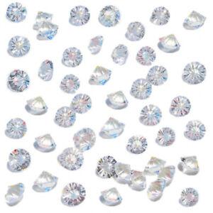 HansGo-Clear-Glass-Diamonds-500PCS-Crystal-Gems-Pirate-Treasure-10mm-Fake