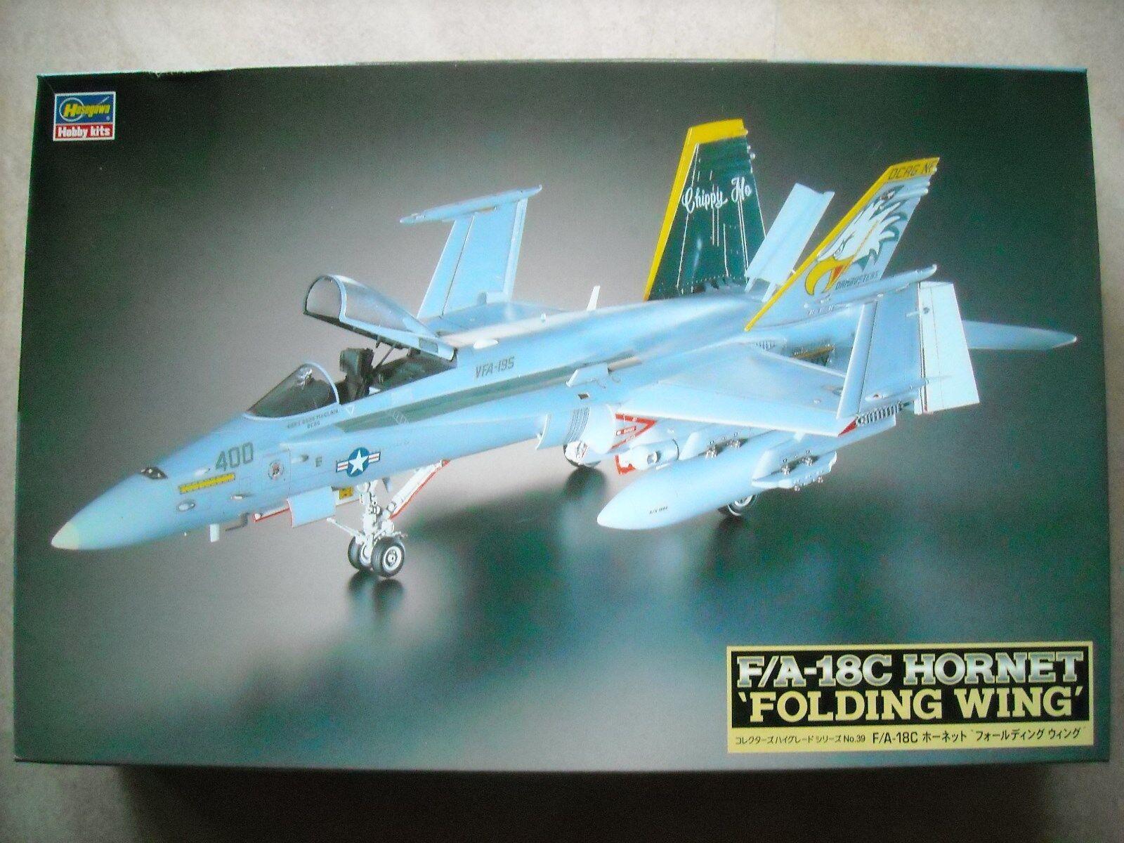 Hasegawa - 1/48 - CH39-F/A-18C HORNET Ala PLEGABLE