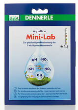 Dennerle AquaRico Mini-Lab 5in1 Water Test Strips pH NO2 NO3 GH KH
