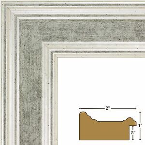 """Craig Frames Contemporary, 2.0"""" Distressed Monza Silver Picture Frame"""