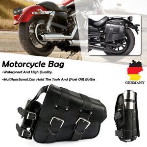Motorrad-Satteltasche-Seiten-Werkzeugtasche-Flaschenhalter-Rechts-fuer-Harley