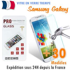 Vitre-de-protection-en-VERRE-Trempe-Film-de-protecteur-d-039-ecran-Samsung-Galaxy