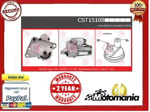 MOTORINO-AVVIAMENTO-CITROEN-C1-cc-1400-HDI-40KW-54CV