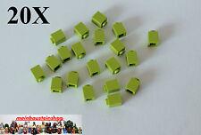 20X Lego® 3005 Basic Steine 1X1 Hoch Lime Limette Grün 4220634 NEU