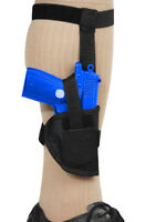Barsony Gun Concealment Ankle Holster For Llama, Na Arms Mini/pocket 22 25 380