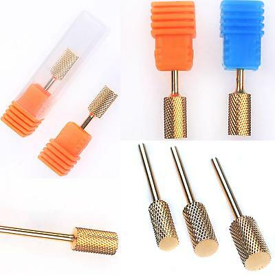 Electric Cylinder Carbide File Drill Bit Nail Art Manicure Pedicure Tool 3 Size