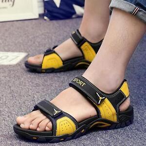 1a75ba724fc2 Summer Mens Open Toe Outdoor Casual Sports Beach Sandals Slippers ...
