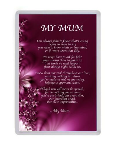 Personalised My Mum Fridge Magnet Birthday Mothers Day Christmas Gift Present