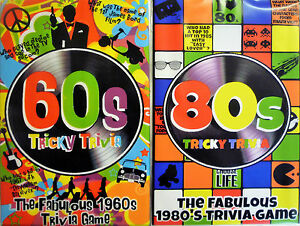 60s or 80s Tricky Trivia Party Quiz Game (240 Q&A) Great for Parties, Travel Fun
