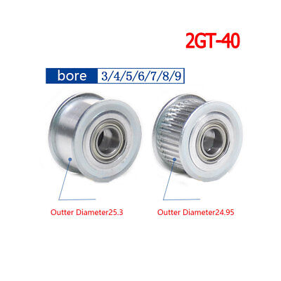 2GT 25T Timing Pulley 5-7mm Bore For 6//10mm Width Belt For 3D Printer Reprap