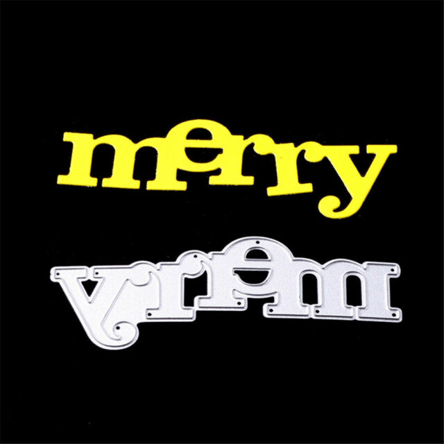 Greeting words Merry Metal Cutting Dies For DIY Scrapbookings Cards Craft Decors