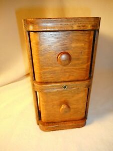 Vintage-Singer-Sewing-Machine-Drawers-Wood-Pair-with-Original-Holder-Very-Nice