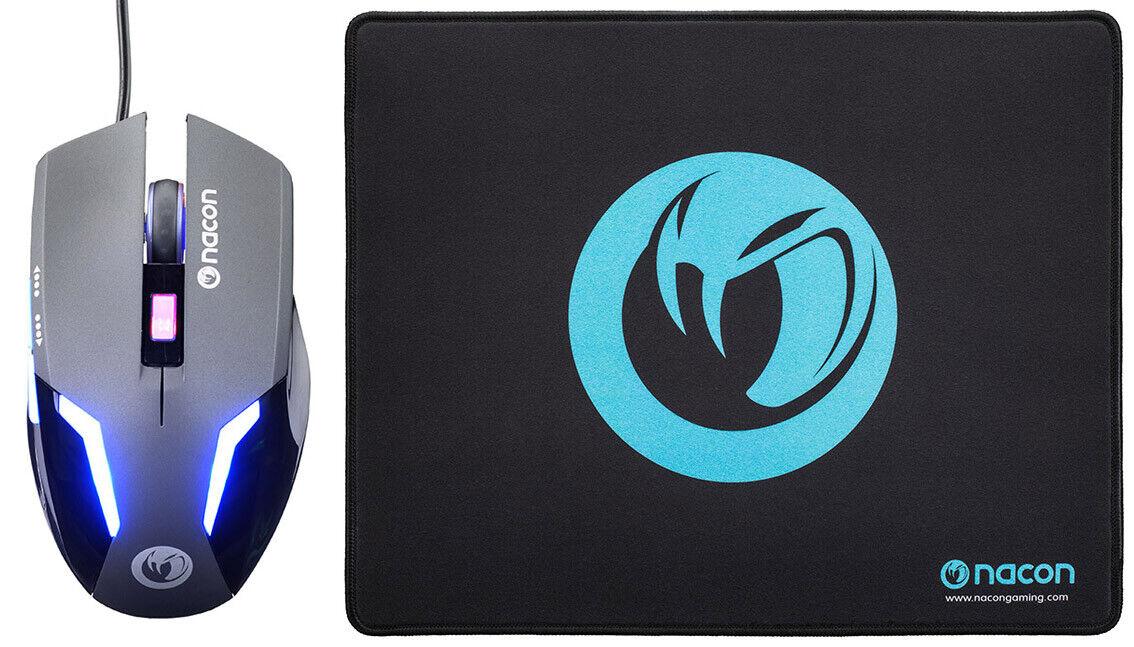 Nacon Gaming Mouse GM-105+ Mousepad Bundle PC PCGB-300 Nacon