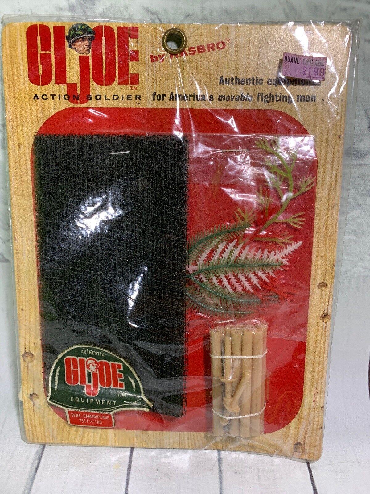 1964 Vintage  7511 Gi Joe Ejército De Tienda de Campaña Camuflaje Soldado de acción 12  escala 1 6 menta en tarjeta