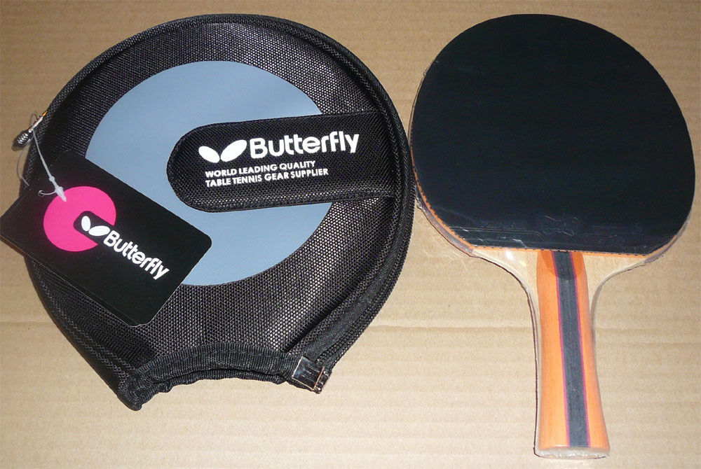 Butterfly TBC502   TBC-502 Table Tennis Paddle, with Case, 2 side Pips-in, UK502