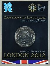 UK 2010 BRILLIANT UNC OFFICIAL ROYAL MINT £5 COIN COUNTDOWN TO LONDON OLYMPICS