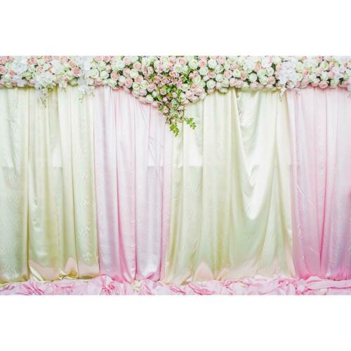 Wedding Flowers Background Cloth Backdrop Video Photo Studio Photography Props