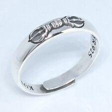 Kobo Daishi Kukai Buddhist Kamulet three  ring charm  ring free size From Japan