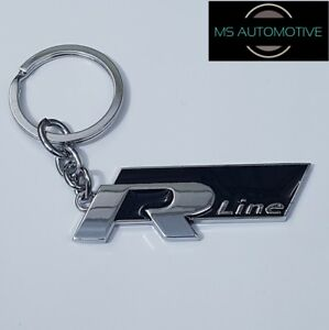 VW R-LINE KEYRING KEY RING KEYCHAIN GOLF SCIROCCO PASSAT TIGUAN POLO ... 644a7153cc6d