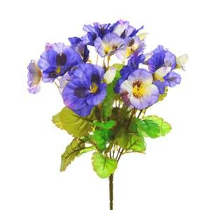 Artificial Colourful Pansy Garland 180cm Long