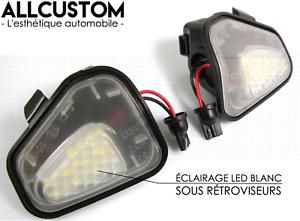 LED ECLAIRAGE BLANC XENON SOUS RETROVISEURS EXTERIEURS pour VW PASSAT B7 2010-14