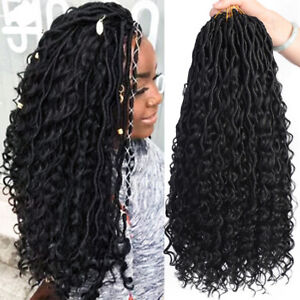 Messy Goddess Synthetic Crochet Boho Faux Locs Hair