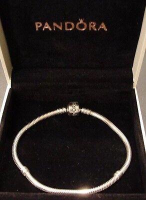 New Authentic Pandora Bracelet 7 5 Barrel Clasp 925 Sterling Silver Pandora Box Ebay