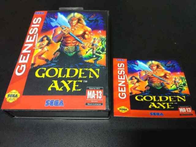 Golden axe (Sega) Small Box+Sticker Only For Game!