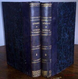 MEMOIRES SOUVENIRS ET ANECDOTES suivis de PENSEES ET LETTRES Comte de Ségur 1859