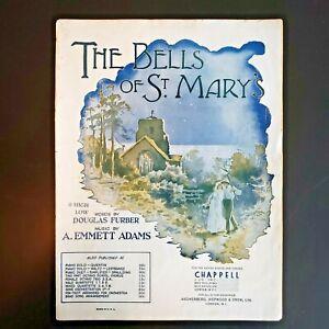 The-Bells-of-St-Mary-039-s-by-Douglas-Furber-A-Emmett-Adams-1917-Sheet-Music-score