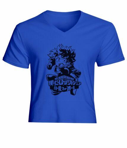 Izuku Midoriya /& My Hero Academia Symbol Mens Unisex V-Neck Cotton Tee T-Shirt