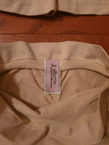 Size 1X Colors Dark Tan Nude Details about  /Lot Of 4 Shear Shapewear Shorts